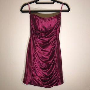 Cache Silk Strapless Dress